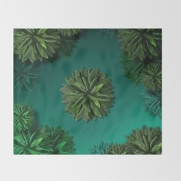 """Caribbean Peppermint"" Throw Blanket"