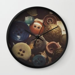 Button Club Wall Clock