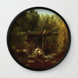 West Cornwall Connecticut 1875 By David Johnson   Reproduction   Romanticism Landscape Painter Wall Clock