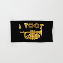 I Toot | Trumpets Music Instrument Hand & Bath Towel