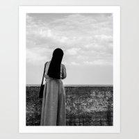 sister Art Prints featuring sister by Wojtek Sadowski