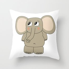 Irrelephant Throw Pillow