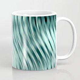 Modern Abstract Shiny Waves Glass Optical Illusion,Reflective Light, Ocean Teal Coffee Mug