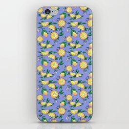 Purple lemons iPhone Skin