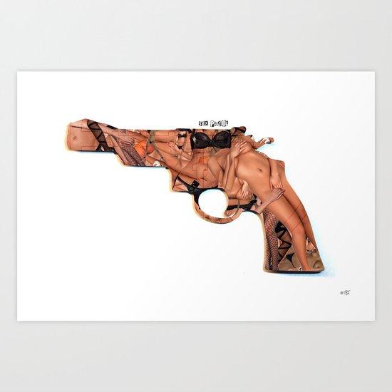 Sex Pistol Collage Art Print