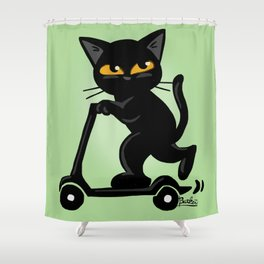 Go fast Shower Curtain