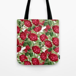 Crimson Rose Bower Tote Bag