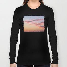 Sunset Burning Clouds Sky Long Sleeve T-shirt