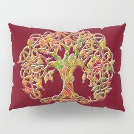 Tree of Life Maroon Pillow Sham