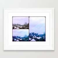 xmas Framed Art Prints featuring Xmas by Rose Etiennette