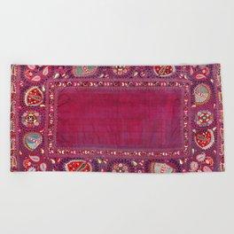 Shakhrisyabz  Southwest Uzbekistan Suzani Embroidery Print Beach Towel