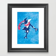 Greninja Framed Art Print