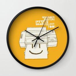 Printers and their feelings Wall Clock
