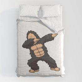 Dabbing Gorilla Shirt Ape Monkey Big Foot Dab Kids Comforters