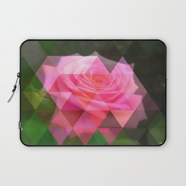 Pink Roses in Anzures 4 Art Triangles 1 Laptop Sleeve