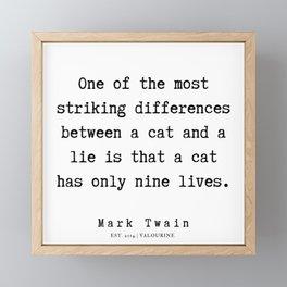 65    | Mark Twain Quotes | 190730 Framed Mini Art Print