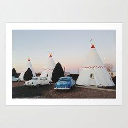 Wigwam Motel Art Print