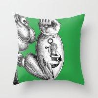 popeye Throw Pillows featuring Popeye & Annie Anchor by C. Mark Burt