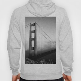 Golden Gate Bridge | Black and White San Francisco Landmark Photography Shot From Marin Headlands Hoody