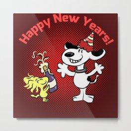Snoopy New Year Metal Print