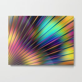 Psychedelic Stripes Pattern Metal Print