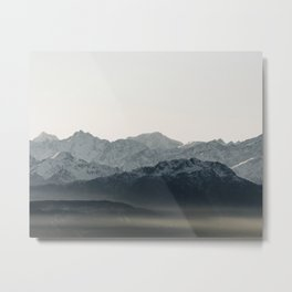 Mountains' Silhouette | Nature and Landscape Photography Metal Print