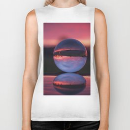 Sunrise in the countryside captured in a sphere. Biker Tank