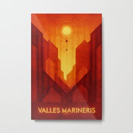 Mars - Valles Marineris Metal Print