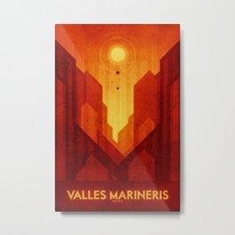 Mars - Valles Marineris Metal Print