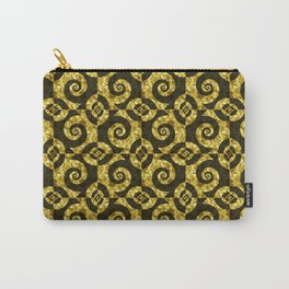 Black and gold Spirals Carry-All Pouch