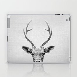 Deer - Black & White Laptop & iPad Skin