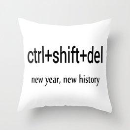 delete history Throw Pillow