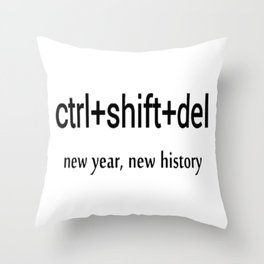 delete history Throw Pillow