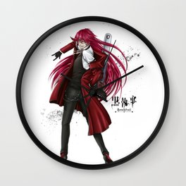 Grell : Red Death Wall Clock