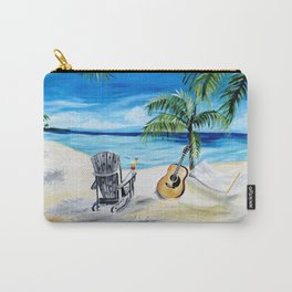 Beach Time with Martin Carry-All Pouch