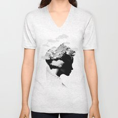 It's a cloudy day Unisex V-Neck