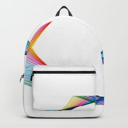 Lines and transparency Backpack
