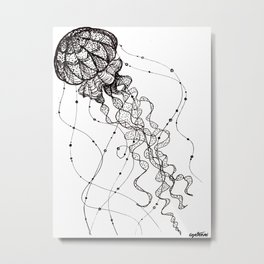 Jellyfish. By Ane Teruel Metal Print