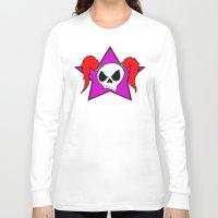 rock n roll Long Sleeve T-shirts featuring Rock-N-Roll Brat  by Los Espada Art