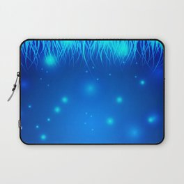 Frosty and icy lines on a blue background. Laptop Sleeve