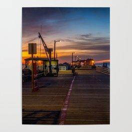 Sunrise on the Pier Avila Beach California Poster