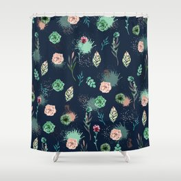 Estampa Suculenta Shower Curtain