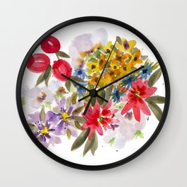 Farmers Market Bouquet 1 Wall Clock