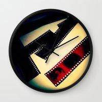 film Wall Clocks featuring Film by wendygray
