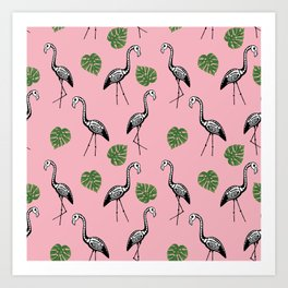 A Flock of Dead Flamingos Art Print