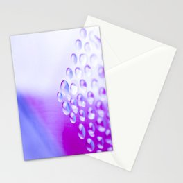 Colorful liquid droplets and blurs background wallpaper Stationery Cards