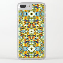 Kaleidoscope Under The Sea Psychedelic Pattern Clear iPhone Case