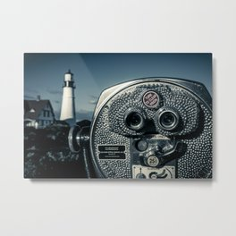View Of Portland Head Light Metal Print