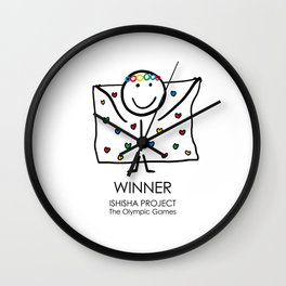 WINNER by ISHISHA PROJECT Wall Clock