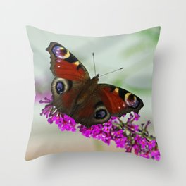 Butterfly Impression  Throw Pillow